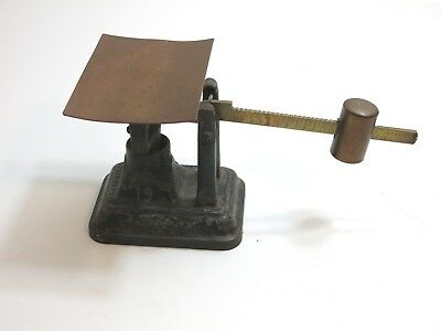 Antique Fairbanks Cast Iron And Copper / Brass Balance Slide Scale