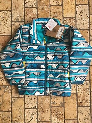 Patagonia Boys Girls Down Sweater 4T Deep Blue Sea NWT