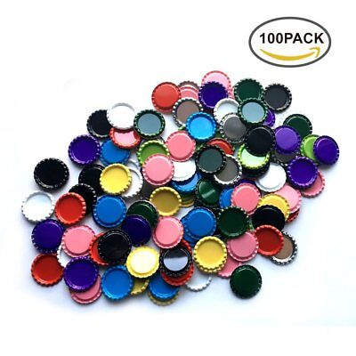 Flat Decorative Bottle Cap Craft Bottle Stickers Double Sided Printed 100 Pieces