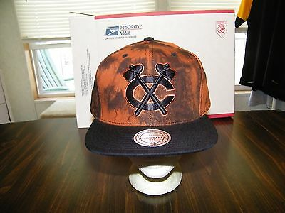 Chicago Blackhawks Mitchell&Ness Vintage Cross Solid COTTON Snapback Hat Cap NHL