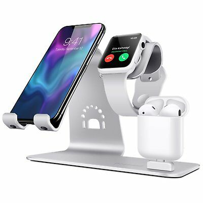 TI-Mingle 3 In 1 Charging Stand iPhone Apple Watch Band 38MM 42MM Dock Station