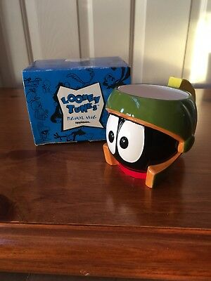 Marvin The Martian Ceramic Mug Figural Looney Tunes Applause 1992 3D Brand New