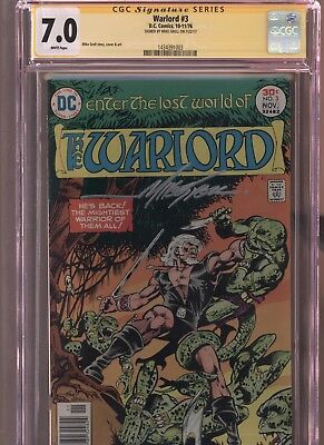 Warlord #3 CGC 7.0 SS Mike Grell 1976 DC COMICS