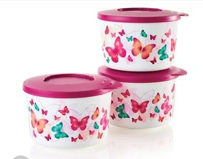 Tupperware Butterfly Sides Set - Stackable Serving Bowls