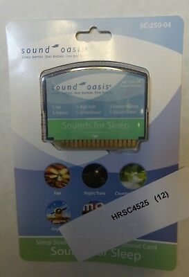 Sound Oasis HC-SC250-04 Sleep Sound Card for S-550-05 Sound Therapy System