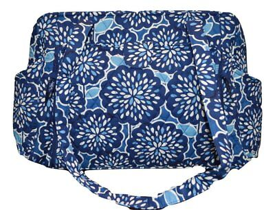 NWT Vera Bradley Make a Change Diaper Bag Baby Bag Petal Splash Blue NWT