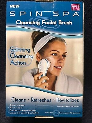 Spin Spa Cleansing Facial Brush - 2 Cleansing Attachments - w/ Same Day Shipping