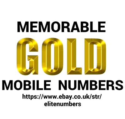 Easy Mobile Phone Number Gold Diamond Platinum Ee Network Pay As You Go Sim Card