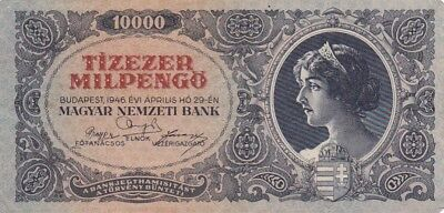 1946 Hungary 10,000 Milpengo Note, Pick 126