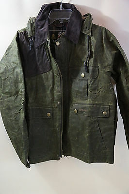Barbour Ware Waxed Cotton Jacket Size M  RETAIL $375