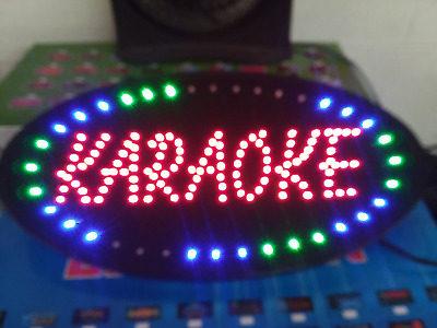 KARAOKE LED Neon Sign,store sign,Pub,Bar,Music sign,Window,Business,smoke shop.