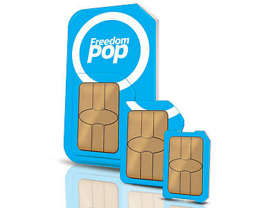 FreedomPop LTE SIM (AT&T) 700MB/Month FREE **Top-Up Disabled** **2GB BONUS**