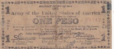 1943 Philippines Negros Army of the United States of America 1 Peso Military Nt