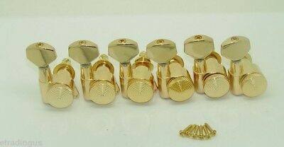 Genuine JINHO locking Tuner Korean 6 in Line GOLD for Fender Strat Tele Guitar