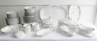 60 Pieces H&Co H & Co Heinrich Imperial China Pink Roses Selb Bavaria Dinnerware