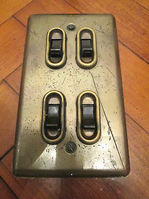 Vintage Brass Light Switch Plate