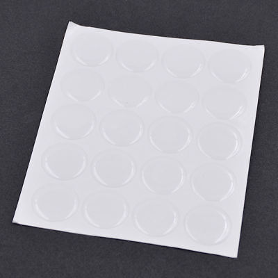 """1 Set Resin Clear Circles Stickers 1"""" Round Epoxy Adhesive 3D Caps DIY Handcraft"""