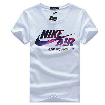 Classic NIKEs Mens Sportstyle Logo Charged Cotton Gym Training T Shirt Tee Top