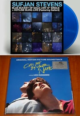 "CALL ME BY YOUR NAME OST 2x LP LTD DLX + SUFJAN STEVENS LIVE 12"" BLUE VINYL New"
