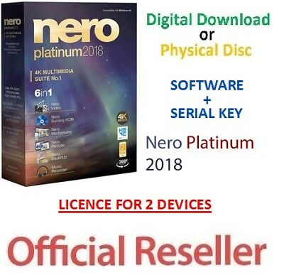 Nero 2018 Platinum Full Version SUITE 9 + Serial Key