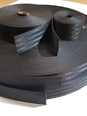 POLYESTER SEAT BELT WEBBING 25,38,50mm wide-sold by the metre