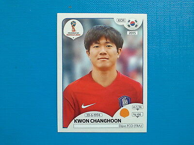 Figurine Panini World Cup Russia 2018 n.501 Kwon Changhoonl Korea Republic