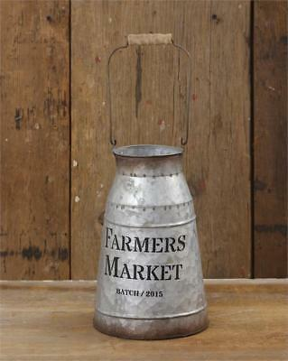 Vintage Style FARMERS MARKET MILK CAN Primitive French Farmhouse Reproduction