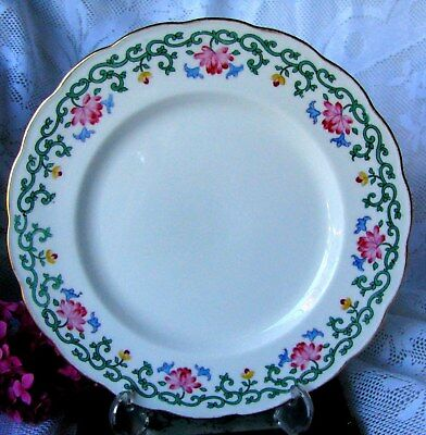Antique Crescent China George Jones Pink Aster Dinner Plate, Art Nouveau 1800s