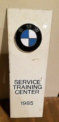 BMW 1985 SERVICE TRAINING CENTER PLAQUE Sign Advertisement Car Rare Metal