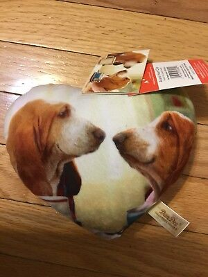 Basset  Hound  Anniversary Pillow Cute!!!   Adorable Couple Of Bassets