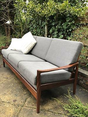 Danish Mid-Cent Modern 3 seat sofa