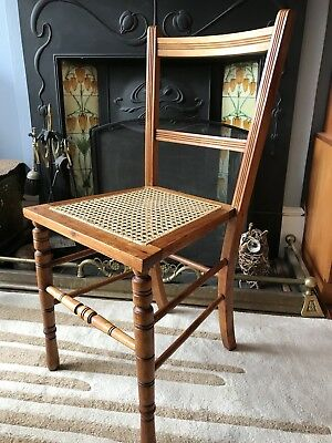 Vintage Oak Rattan Caned Chair Bedroom Hall Perfect Seat Vintage Retro