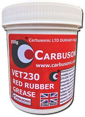 Red Rubber Grease, brake caliper grease hydraulic lubrication, rubber safe 200gm