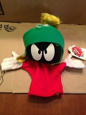"""Looney Tunes Marvin the Martian 10"""" Hand Puppet - Applause - 1994 Vintage w/tags"""