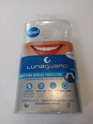 LunaGuard Nighttime Dental Protector Adult Bite Guard For Teeth Grinding W/Case