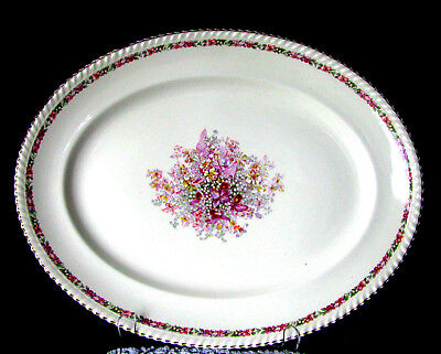 """Johnson Brothers The Queen's Bouquet Platter Very Vintage Queens 15 3/4"""" Serving"""