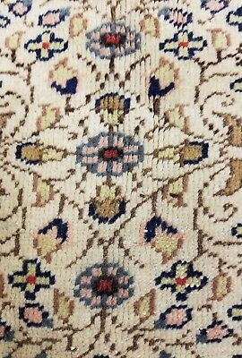 Exquisite  1930-1940s Antique Muted Dyes 7x10ft Wool Pile Legendary Hereke Rug