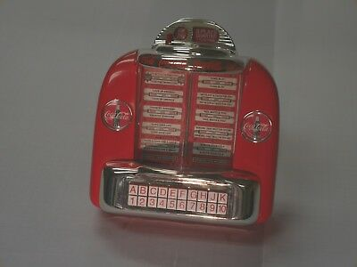 1996 Coca-Cola Tabletop Jukebox DieCast Metal Musical Bank in Box