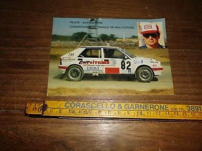 Alain Sturm Lancia Delta Hf Rally Cross Card Cartolina Postcard Karte