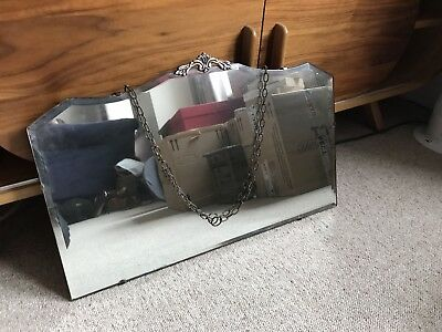 vintage art deco bevelled wall mirror