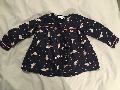 Gorgeous Designer French DPam Girls' Dinosaur Top Sz 12-18M Exc Cond.