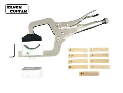 Handheld Fret Press, w/ 9 Radius Inserts. Fast Fretting Tool, Works For Any Neck
