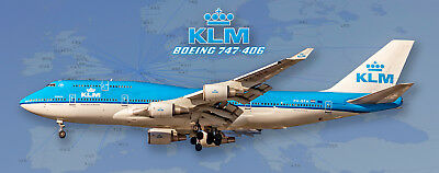 KLM Airlines Boeing 747-406 Handmade Photo Magnet (PMT1660)