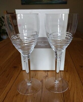 A pair of Waterford crystal red wine goblets, Jasper Conran Strata Design