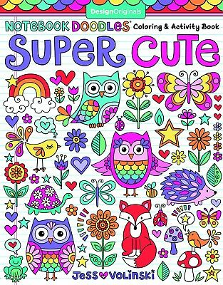 Coloring Book For Kid Todler Girl Animal Cute Doodles Pages Relax Anti Stress