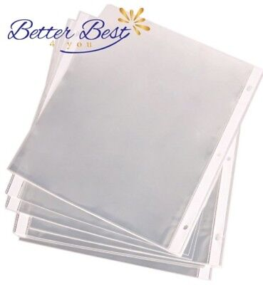 200 Sleeves Clear Sheet Page Protectors Document Office Standard 8.5 x 11 inch