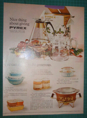 1959 Pyrex ad Nice thing about giving Pyrex - afford to be generous