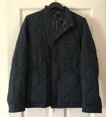 J. Crew Men Sussex Quilted Jacket Obsidian Blue - XS