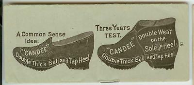 c1890s Candee Rubber Company Rubber Shoes Tap Heel brochure