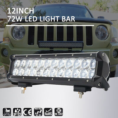 12inch LED Work Light Bar Spot & Flood Combo Off Road Truck Jeep Ford SUV